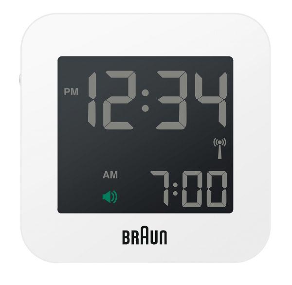 【日本正規代理店品】 ブラウンBRAUNグローバル電波アラームクロック  BNC008WH-RC