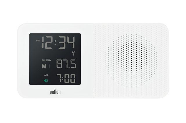 【日本正規代理店品】 ブラウンBRAUNラジオ グローバル電波アラームクロック  BNC010WH-SRC