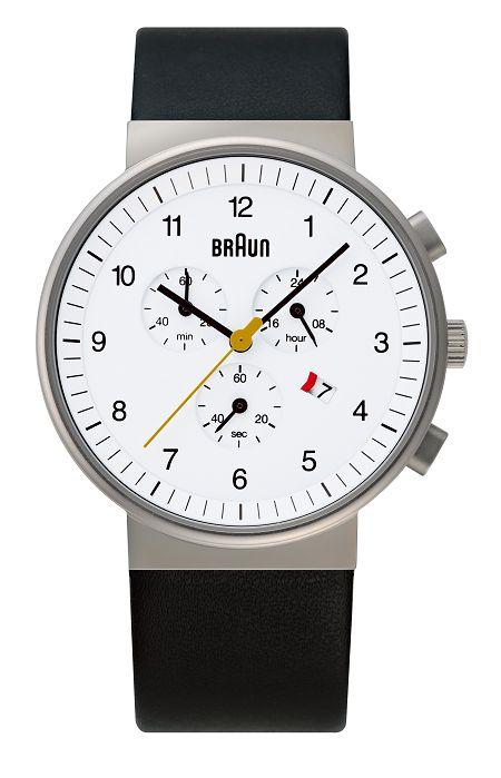 【日本正規代理店品】 ブラウンBRAUNリストウォッチ  腕時計 クロノグラフ  BNH0035WHBKG