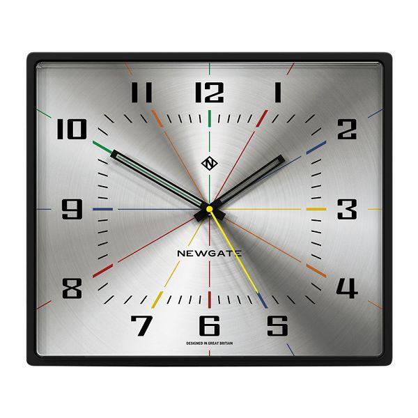 NEW GATEニューゲート掛け時計 レクタングル Box Office Clock - Silver BOXOF701CK【送料無料】