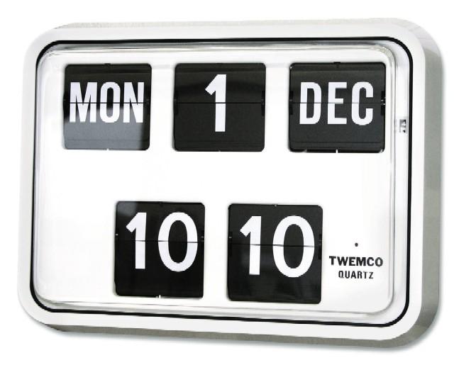 TWEMCOカレンダー時計  BQ-17ホワイト 掛け時計