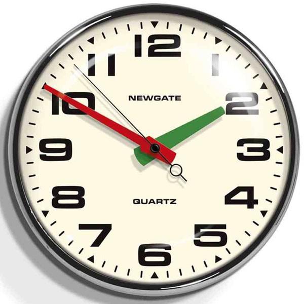 レトロなデザイン魅力です! NEW GATEニューゲート掛け時計 Brixton Wall Clock Chrome BRIX392CH