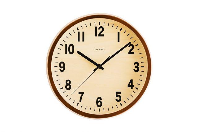 PUBRIC掛け時計  CHAMBRE  CH-027CB  カフェブラウン