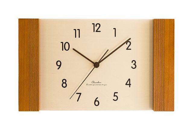 お部屋をスタイリッシュに飾ります! 置き掛け兼用時計 CHAMBREスクエア CH009CB