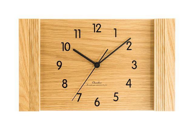 お部屋をスタイリッシュに飾ります! 置き掛け兼用時計 CHAMBREスクエア CH009OA