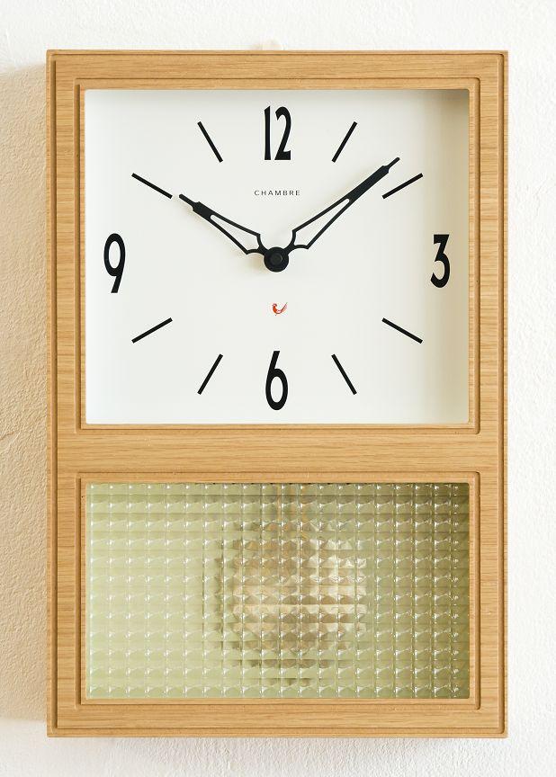 機械式掛け時計を感じさせるレトロなデザインです!GLASS振り子時計 CHAMBRE CH021OA