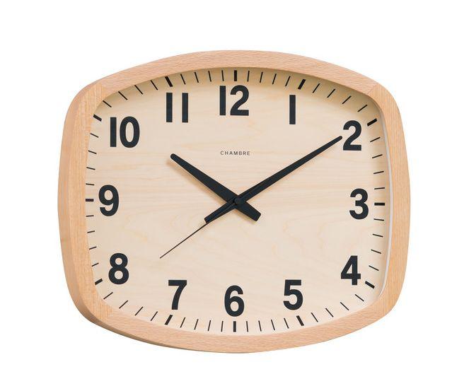R-SQUARE CLOCK 掛け時計  CHAMBRE  CH-028BC  ナチュラル