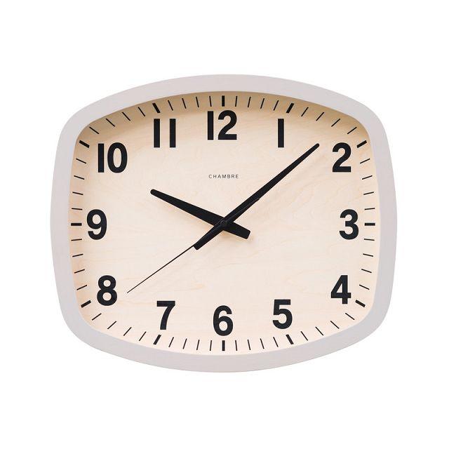 R-SQUARE CLOCK 掛け時計  CHAMBRE  CH-028GY  グレイ