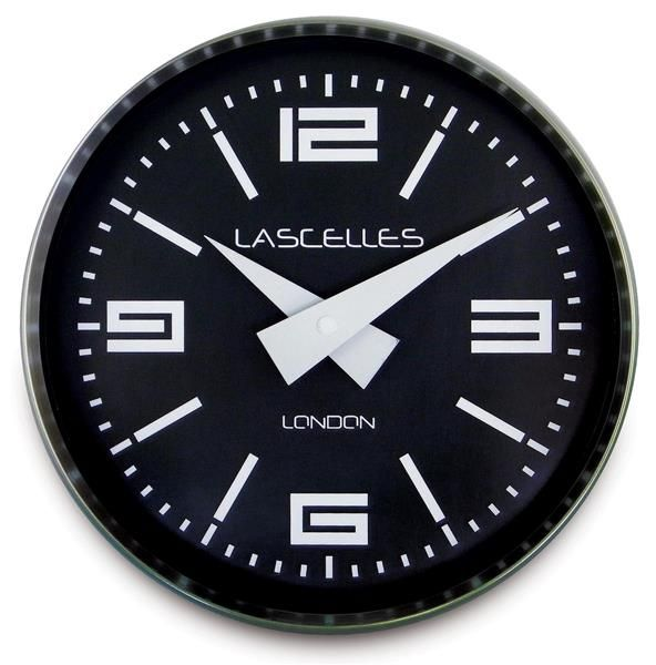 ロジャーラッセルRogerLascelles社製 Modern Brushed Chrome  Case  WALL CLOCK  23cm COSMO-CHROME