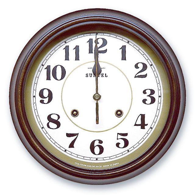 さんてる アンティーク調掛け時計 電波スイープムーブメント DQL674A サンテル 日本製