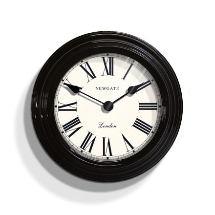 アンティーク調でお洒落!NEW GATE(ニューゲート) Petite  Gallery2 ブラック FAP584EK  掛け時計