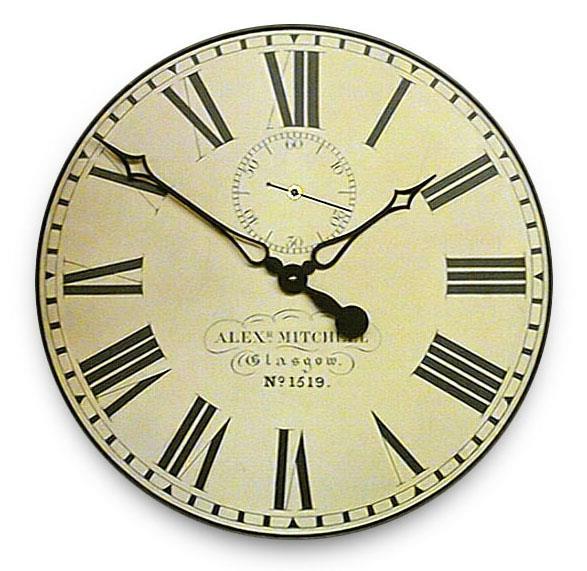 アンティーク調でお洒落!ロジャーラッセル掛け時計 RogerLascelles掛け時計 Station Wall Clock with Seconds Hand 壁掛け時計 GAL-GLAS