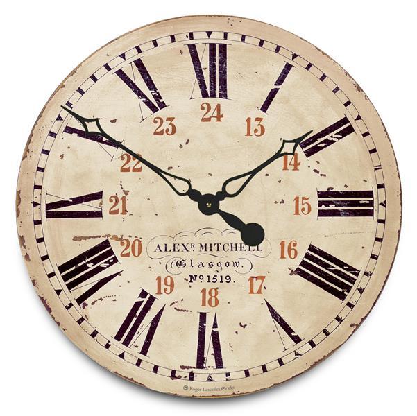 アンティーク調でお洒落!ロジャーラッセル掛け時計 RogerLascelles掛け時計 Railway Station Wall Clock  壁掛け時計 GAL-RAIL