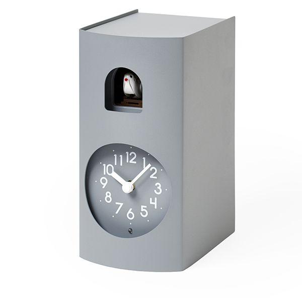 鳩時計 カッコークロック 置き掛け兼用 Lemnos レムノス Bockoo グレイ GF17-04GY