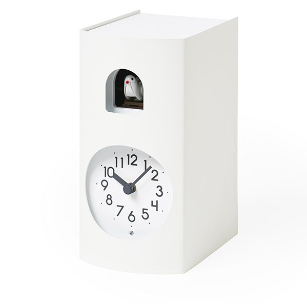 鳩時計 カッコークロック 置き掛け兼用 Lemnos レムノス Bockoo ホワイト GF17-04WH