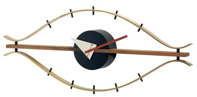 斬新なデザインで壁面を飾る 掛け時計 アイクロック GN395 ジョージネルソン
