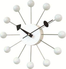 斬新なデザインで壁面を飾る 掛け時計 BALLクロック ホワイト GN13397WH  ジョージネルソン
