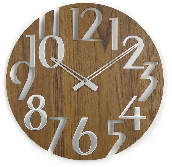 斬新なデザインで壁面を飾る 掛け時計   ジョージネルソン  GN215WB  チーク