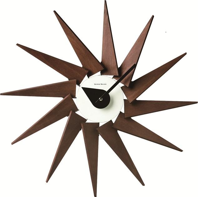 斬新なデザインで壁面を飾る 掛け時計 Turbine Clockエスプレッソ GN320ESP ジョージネルソン