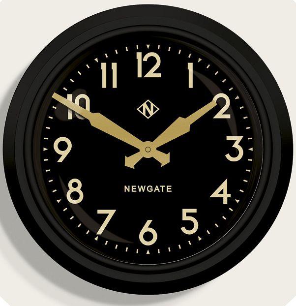 ニューゲート掛け時計 50's Electric マットブラック GWL15MK NEWGATE掛け時計