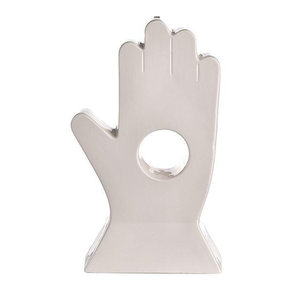 磁器貯金箱 マネーバンク HAND 手 Porcelain Hole in Hand Money Box - Ivory HIHMB-I