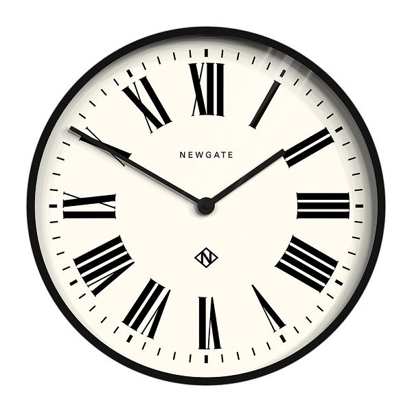 NEW GATEニューゲート掛け時計 Number One Italian Wall Clock - Black ITALIAN-BK