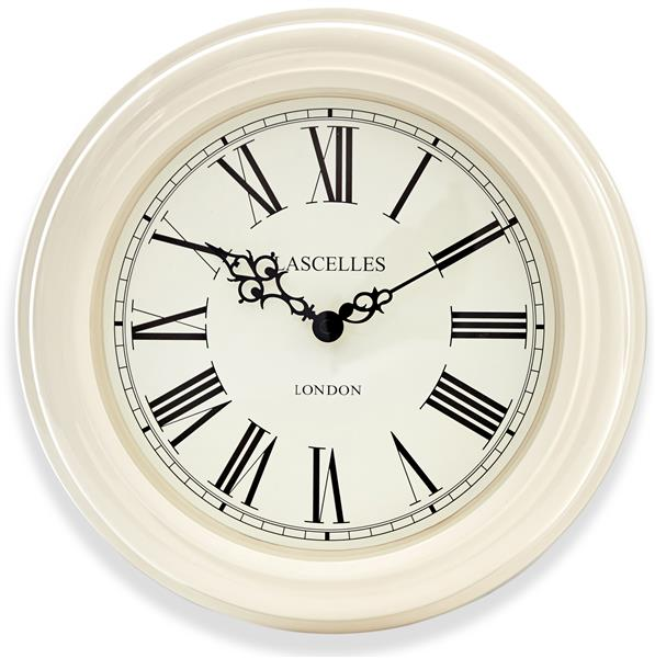 ロジャーラッセルRogerLascelles社製 掛け時計 Lacelles Classic Wall Clock in Cream 32cm LC-LASC-CRM