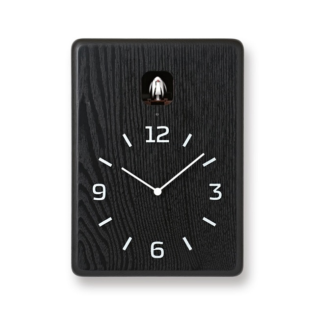 鳩時計 可愛い巣箱のクロックです!Lemnos レムノス カッコー掛け時計 cucu LC10-16BK ブラック
