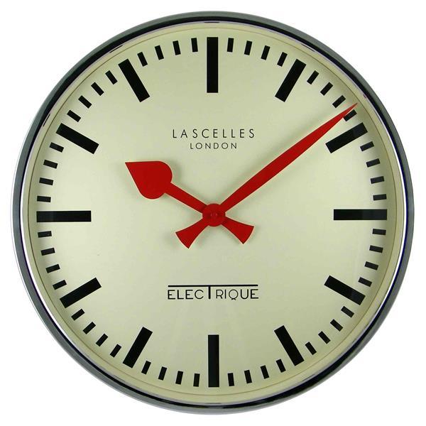 レトロ調でお洒落!ロジャーラッセルRogerLascelles社製 掛け時計 LM-ELEC-CHROME
