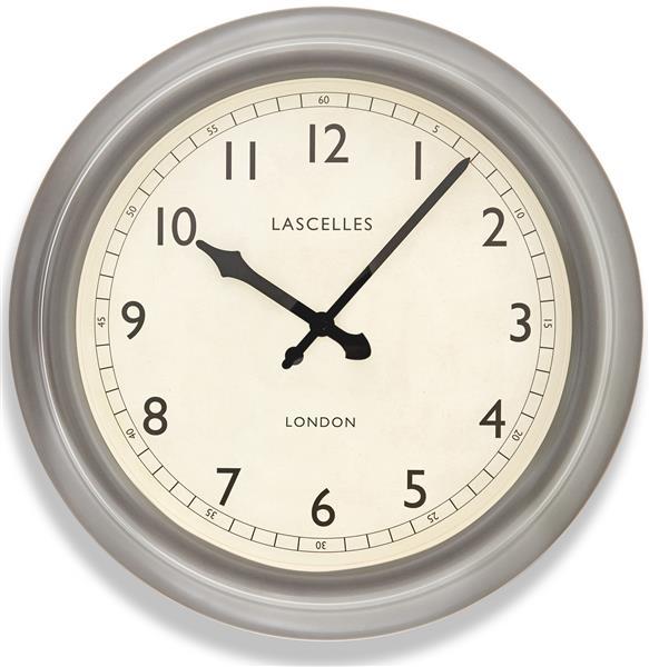レトロ調でお洒落!ロジャーラッセルRogerLascelles社製 掛け時計 Large Metal Lascelles Clock with a Pewter Finish LM-LASC-PEWTER