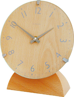 ドームガラスがお洒落! INHOUSEインハウス製置き時計 ドームデスククロック  ビーチウッドM29CA