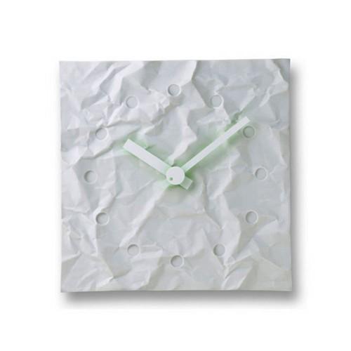 斬新なデザインがお洒落!Lemnos レムノス 掛け時計 CRINKLE CLOCK MKL08-23A