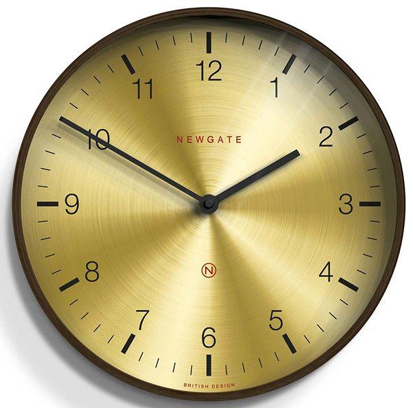 NEW GATEニューゲート掛け時計 Large Mid-Century Brass Wall Clock Dark Wood  MCWC-DPLY【送料無料】