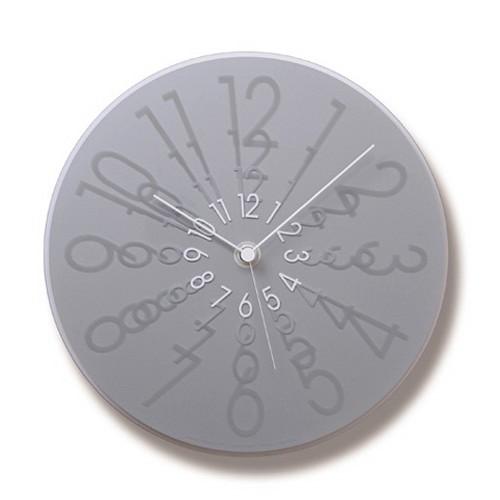 文字盤の数字に注目です!Lemnos レムノス 掛け時計 ZOOM シルバー MS07-16SL φ295cm