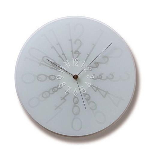 文字盤の数字に注目です!Lemnos レムノス 掛け時計 ZOOM ホワイト MS07-16WH φ295cm