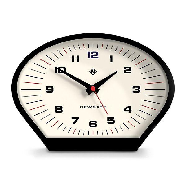 NEW GATEニューゲート マントルクロック Space Cowboy Mantel Clock - Cream ブラック-ホワイト MSCOW174CK