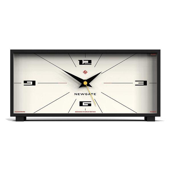 NEW GATEニューゲート マントルクロック Thunderbird Mantel Clock - Cream ブラック-ホワイト MTHUN201CK