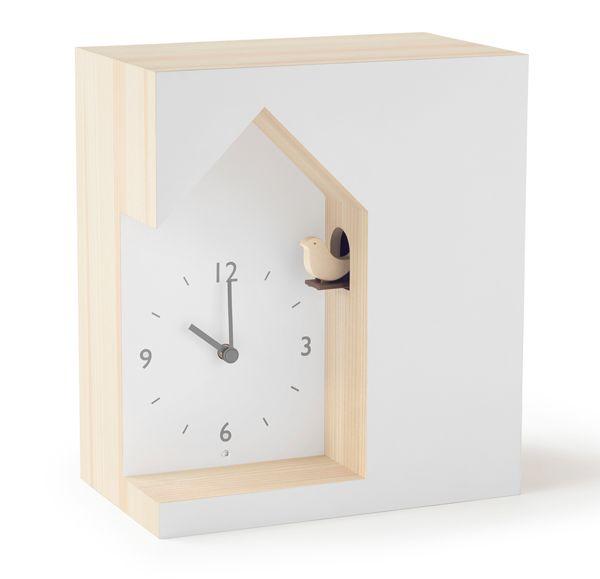 鳩時計 カッコークロック  はと時計 ハト時計 Lemnos レムノス cuckoo-collection dent  デント NL19-03