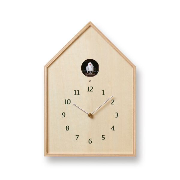 鳩時計 カッコークロックです Lemnos レムノス カッコー掛け時計 Birdhouse Clock ナチュラル  NY16-12NT