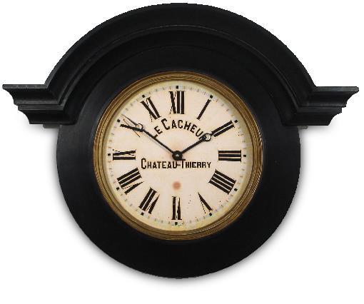 アンティーク調でお洒落!ロジャーラッセルRogerLascelles社製 Large Ornamental Chateau Clock Black 掛け時計 ORN-CACH-BG