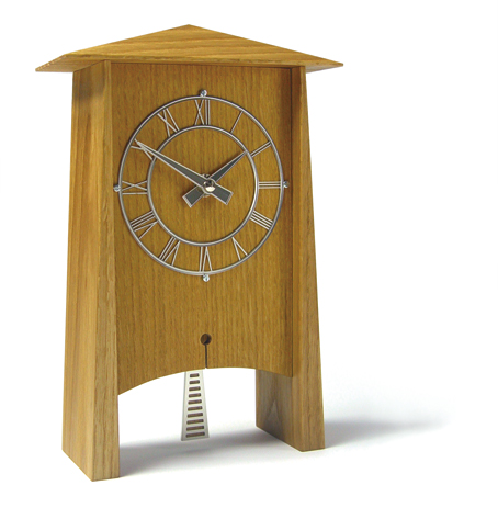 気品溢れる木製振り子時計! INHOUSEインハウス製置き時計 PENDULUM オーク P1O