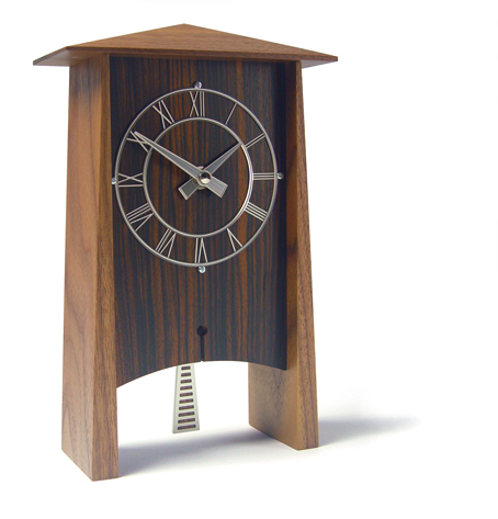 気品溢れる木製振り子時計! INHOUSEインハウス製置き時計 PENDULUM ウォルナット P1W