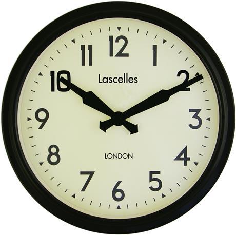 文字入れ品 ロジャーラッセルRogerLascelles社製 PERSONALISED Smiths Retro Clock 38cm 掛け時計 PD-SM-RETRO-BLACK