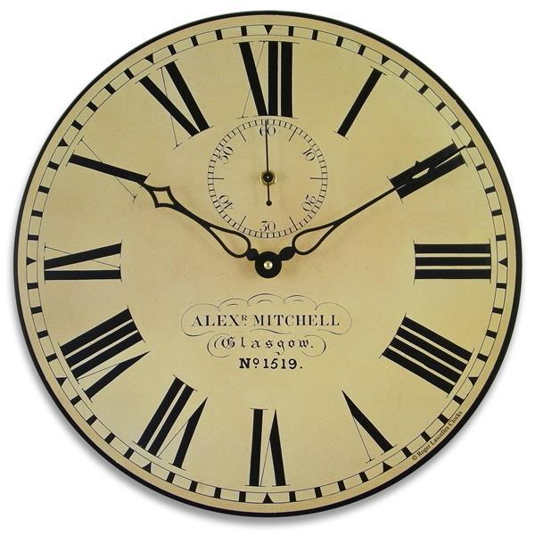 アンティーク調でお洒落!ロジャーラッセル掛け時計 RogerLascelles掛け時計 Station Wall Clock with Seconds Hand 壁掛け時計 PUB-GLAS