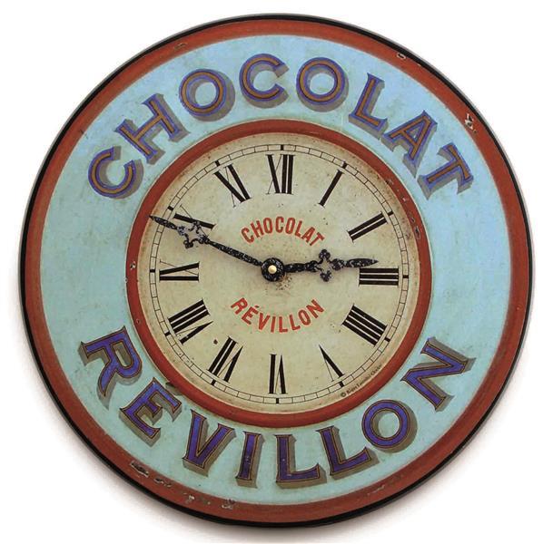 アンティーク調でお洒落!ロジャーラッセル掛け時計 RogerLascelles掛け時計 French 'Chocolate' Bistro Clock  壁掛け時計 PUB-HOTCHOC