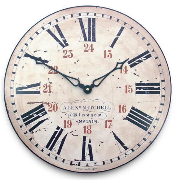 アンティーク調でお洒落!ロジャーラッセル掛け時計 RogerLascelles掛け時計 Railway Station Wall Clock  壁掛け時計 PUB-RAIL