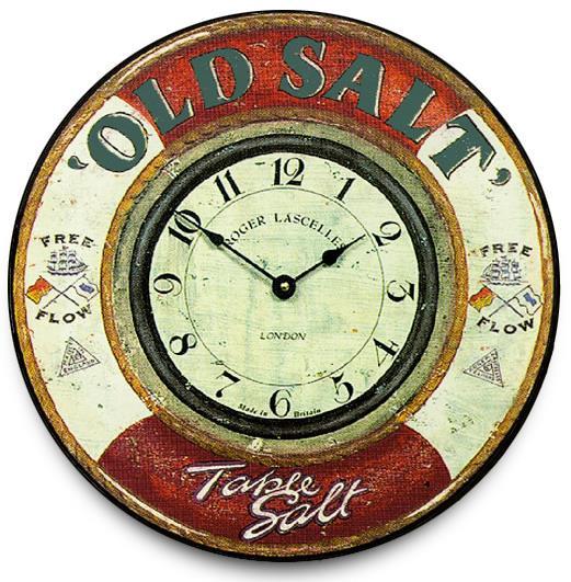 アンティーク調でお洒落!ロジャーラッセル掛け時計 RogerLascelles掛け時計 Nautical wall clock, 'Old Salt'  壁掛け時計 PUB-SALT