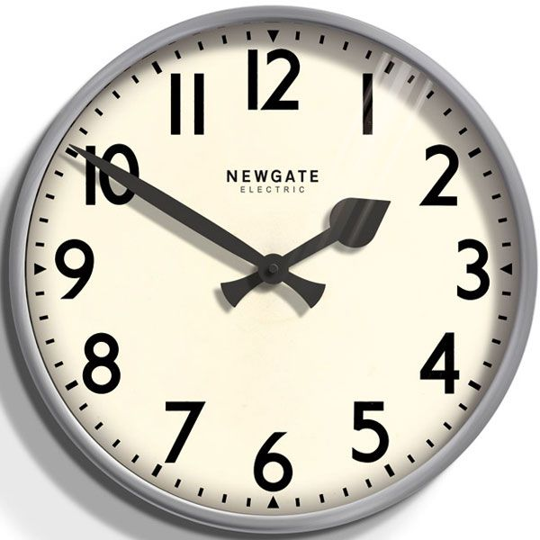 レトロなunderground station clock NEW GATEニューゲート掛け時計 Putney Wall Clock グレイ PUT553OGY