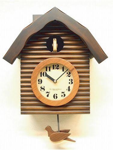 鳩時計 さんてる 日本製 振り子はと時計 QL650BR  国産 手作り