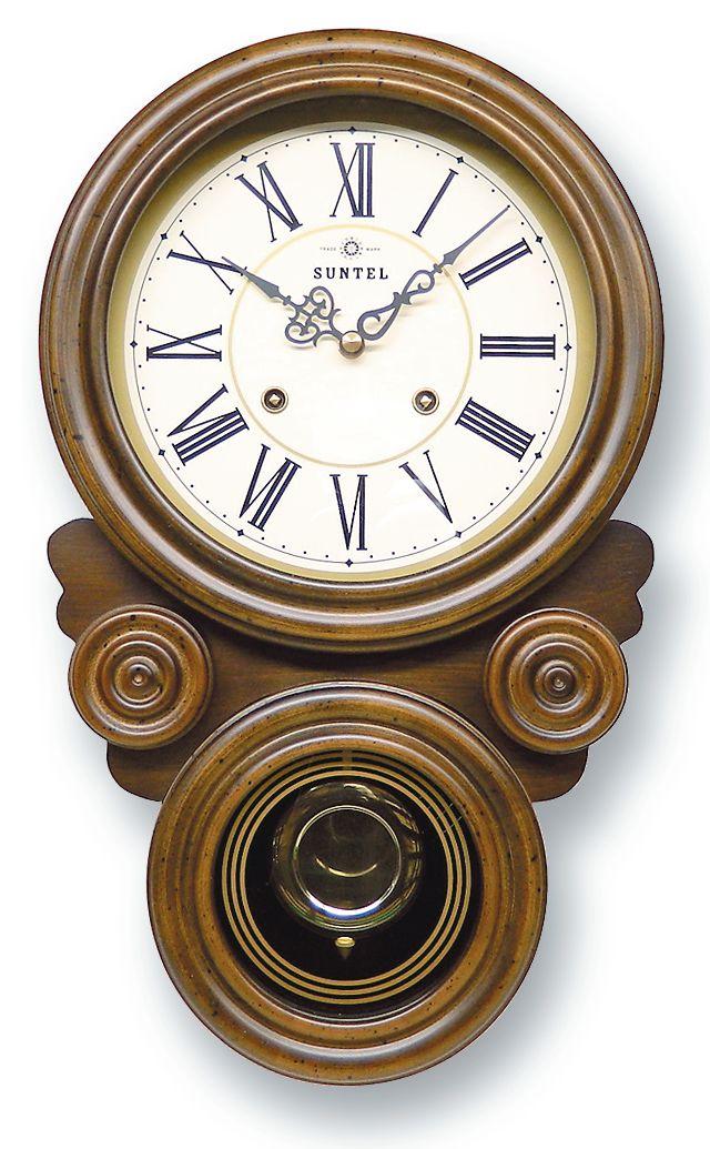 格調高く時の訪れを告げます! ボンボン報時付き だるま振り子時計 QL687R サンテル 日本製